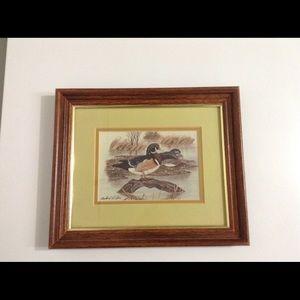 Richard G. Lowe print (two ducks)